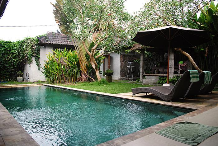 The pool is large and inviting. - Villa Heliconia - New 3br Villa w/ Private Pool - Ubud - rentals