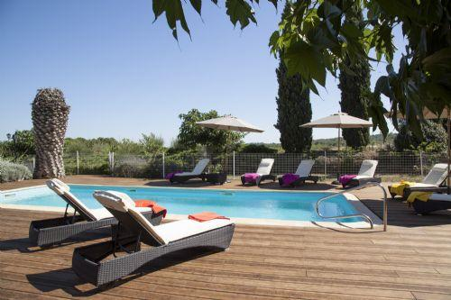 The adult pool - heated May, June, September, October - Mas de Thau - Muscadet - Herault - rentals