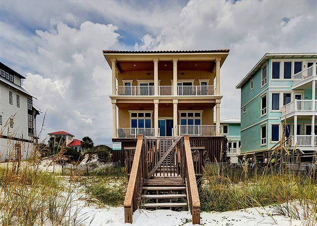 Back of Gulf Paradise - Exquisite Vacation Home-Directly On the Beach-FREE Golf & Parasailing! - Sandestin - rentals