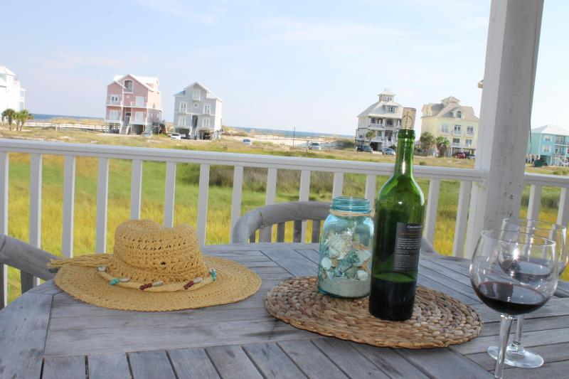 View from Main Deck - 4BR 4BA Pool, 2min walk to beach in Fort Morgan - Fort Morgan - rentals