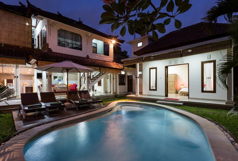 Property Exterior Night Shoot - 3 BR Bima2 Seminyak-Your 2nd home in Bali - Kuta - rentals