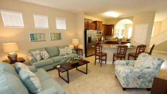 5 Bedroom 4.5 Bathroom Pool Home In New Resort. 4405AC - Image 1 - Orlando - rentals