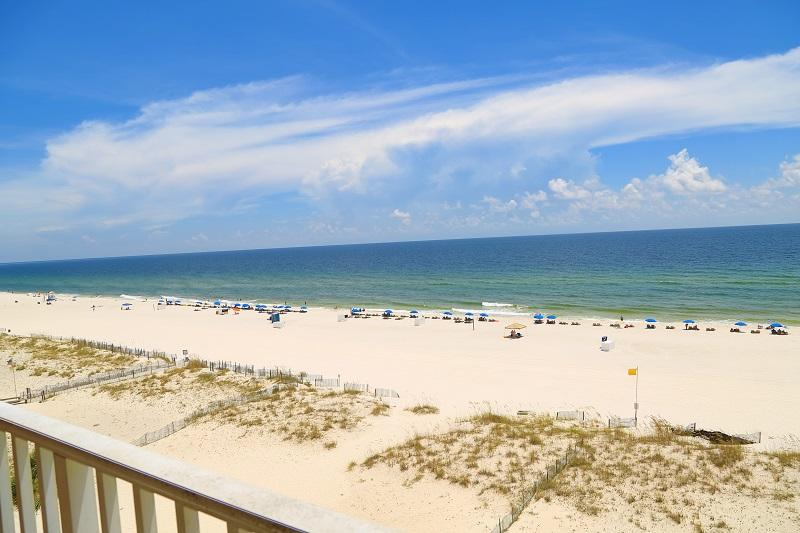 Gulf front view - Tropic Isles 602 - Gulf Front - Walk to town! - Gulf Shores - rentals