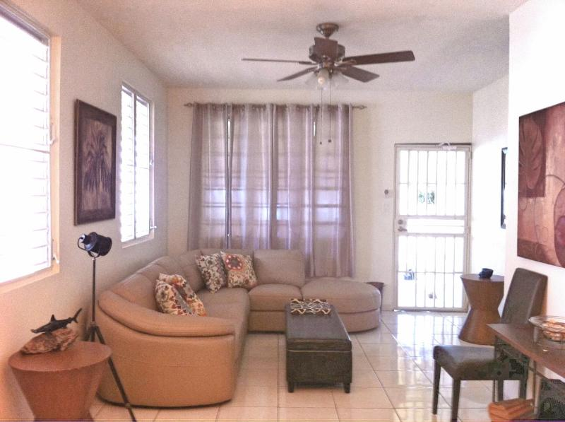 Modern Living Area - Charming and comfortable home in Aguadilla - Minutes from Crashboat Beach - Aguadilla - rentals