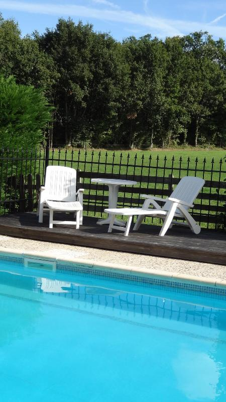 Poolside Terrace - La Ferme - B&B for couples or families - Allemans - rentals