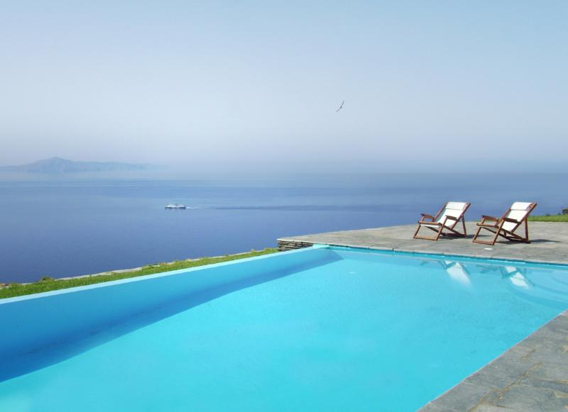 VIEW TO THE SEA FROM THE POOL - VILLA  WITH BREATHTAKING SEA-VIEW - Andros - rentals
