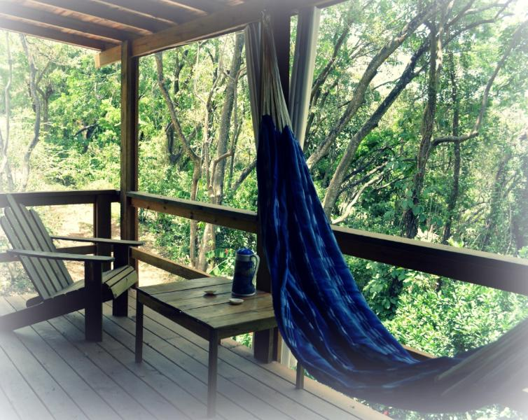 Each suite enjoys a private porch with a traditional Peressosa chair and hammock - Villa El Sueno brand new boutique suite guesthouse - West End - rentals