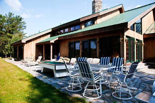 Exterior and Patio - Old Mill Waterfront Home - Rangeley - rentals