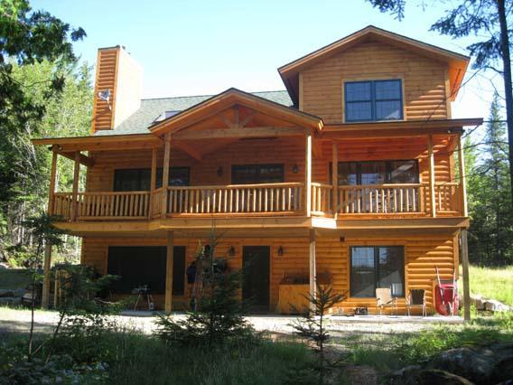 Front view, Summer - Birches - Rangeley - rentals