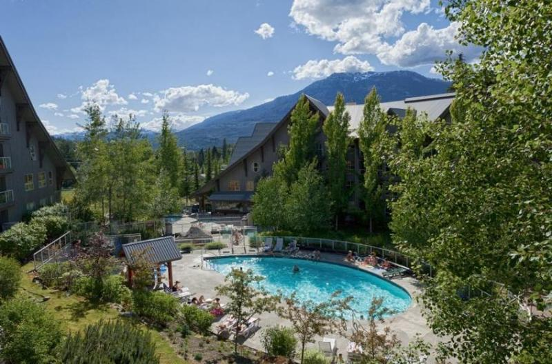 Spectacular View of Mt and Pool from Deck - Bob and Katie Nowlin - Whistler - rentals