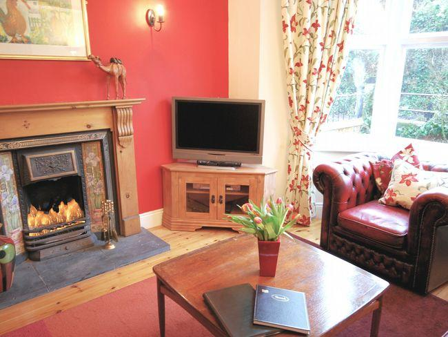 Lounge with open fire  - HBROO - Lustleigh - rentals