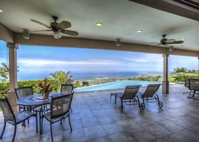 View from lanai - www.konacoastvacations.com - Luxury living at this breathtaking Iolani home! - New to Kona Coast Vacations-PHIolani - Kailua-Kona - rentals