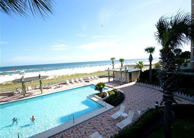 Balcony View to West - White Caps 206 ~ Master Bedroom Access to Balcony ~ Bender Vacation Rentals - Gulf Shores - rentals
