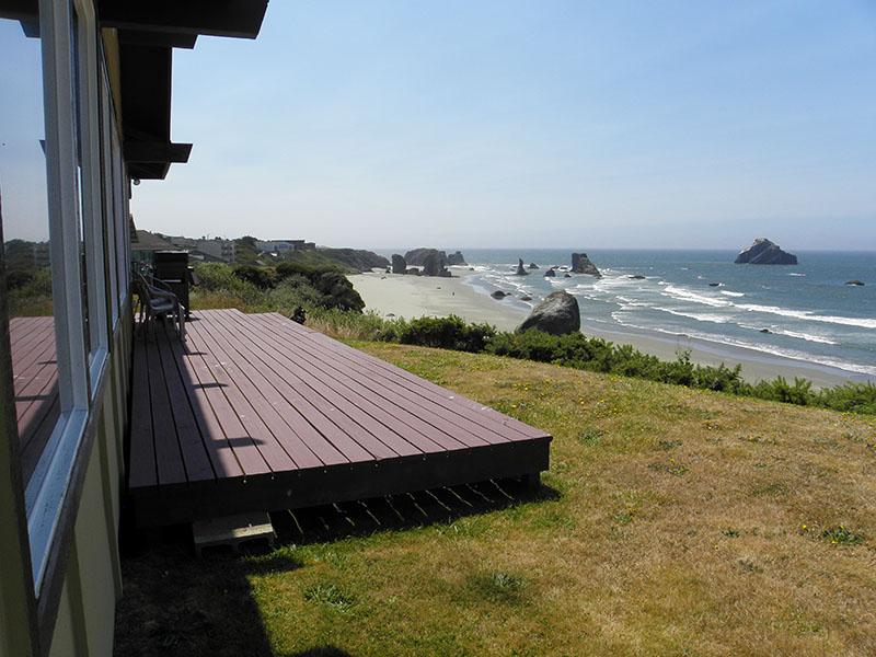The stunning southwest view from the west deck - The Ulett House - Bandon - rentals