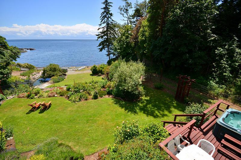 Incredible views and green space to enjoy - 3 Bedroom Victoria Ocean Front Home with Hot Tub and Private Beach - Victoria - rentals