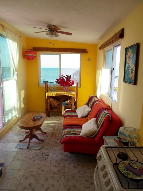 Casa Rosa. Beach Front  TOP Apartment, Chelem, - Image 1 - Chelem - rentals