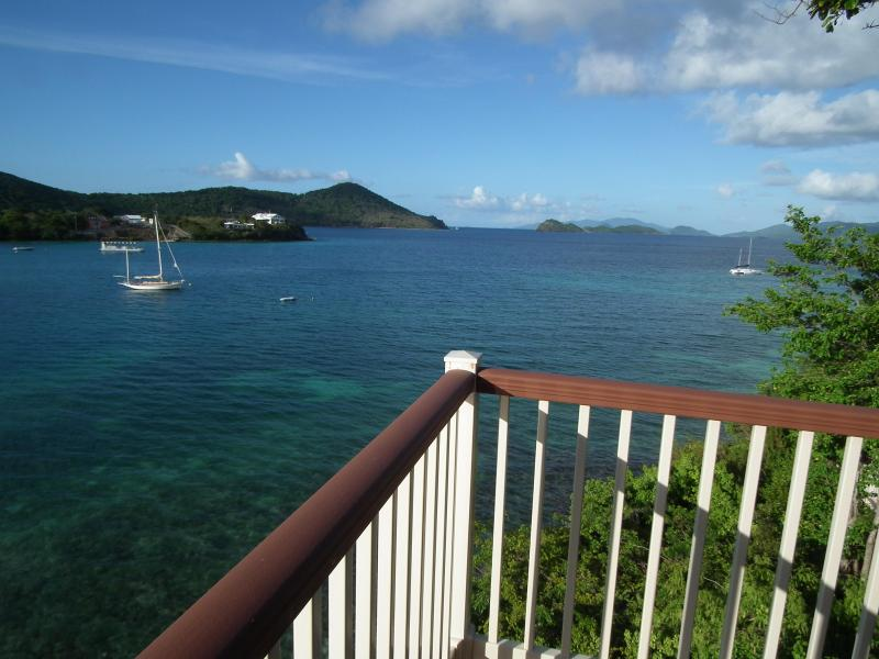 View from the private terrace - Captain's Quarters - Pt. Pleasant  St. Thomas USVI - East End - rentals