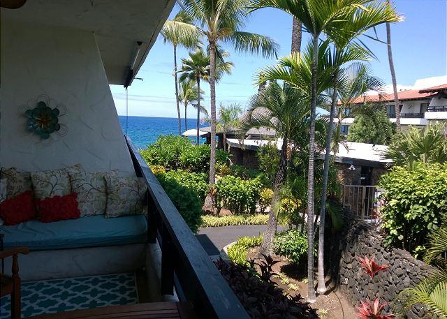 View from lanai - www.konacoastvacations.com - Ocean View condo at Casa de Emdeko! AC Included! - Kailua-Kona - rentals