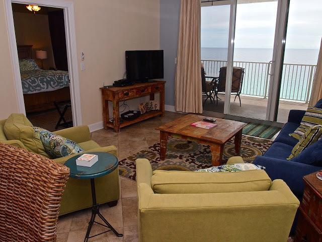 Living area #1307 - Brand New 4 Bedroom In Tropic Winds with Gorgeous Views - Panama City Beach - rentals