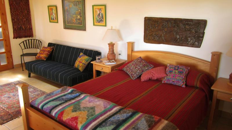 This apartment features beautiful & colorful Guatemalan fabrics and handmade furniture. - Elegant Apartment with Great Views Close to Town - San Marcos La Laguna - rentals
