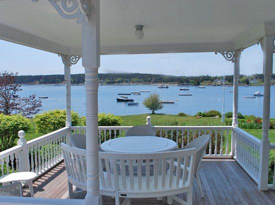 Great harbor views from the covered porch - PORT CLYDE HOUSE - Town of St George - Port Clyde - rentals