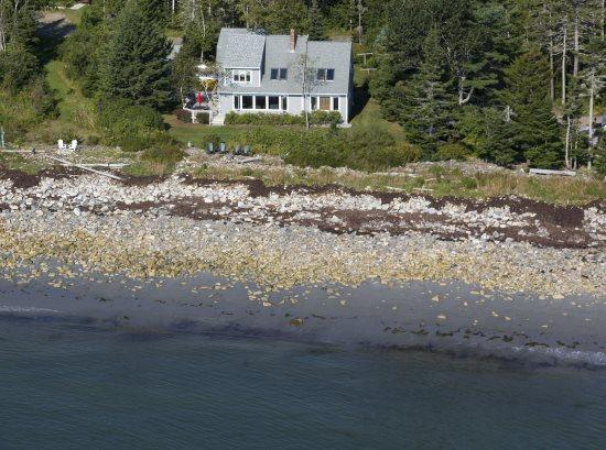 From the air - August 2014 - NOKOMIS BEACH COTTAGE - Town of Owls Head - Owls Head - rentals