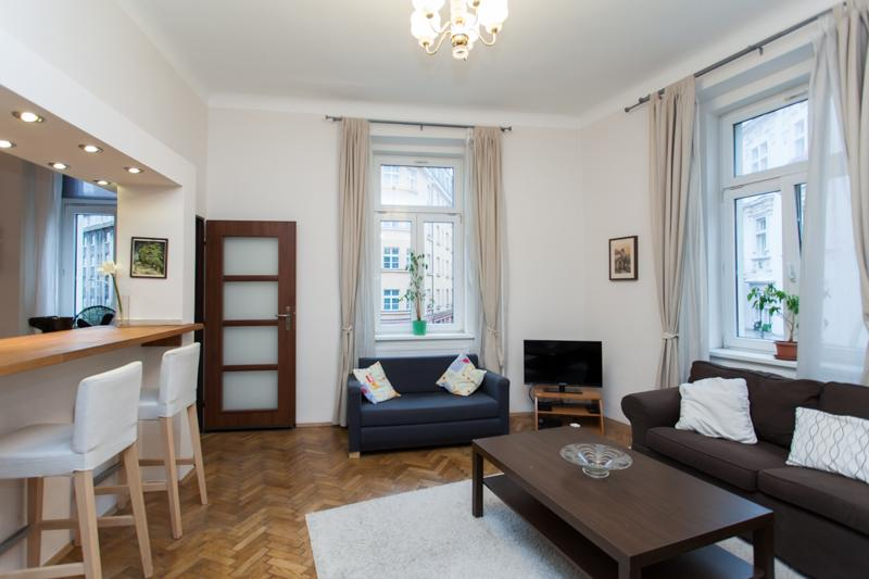 The Living Room - Beautiful Park Apartment 1-6 People - Prague - rentals