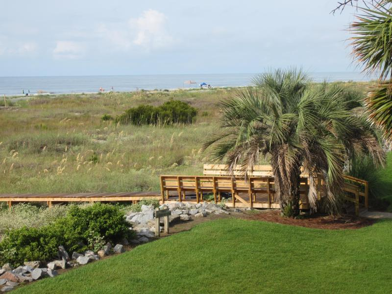 Beach access photo from balcony - Oceanfront- Spring & Summer weeks already booking on Fripp! Free WiFi! - Fripp Island - rentals