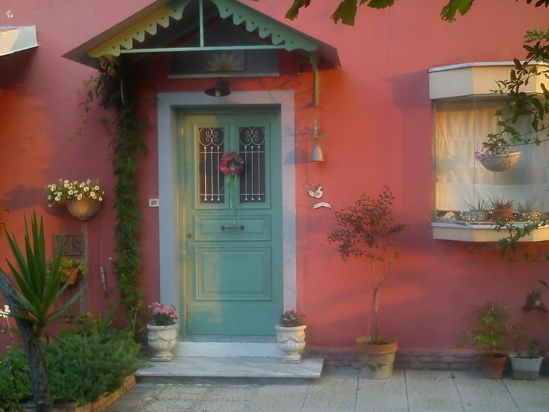 the main entrance - Beachfront Villa-Sofia at Ionian coast. - Preveza - rentals
