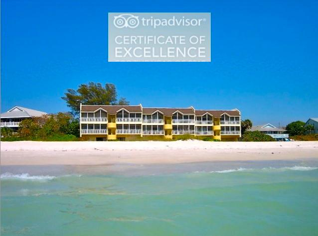 Awarded TripAdvisor Certificate of Excellence - Anna Maria Island Beachfront - Excellence Award - Holmes Beach - rentals