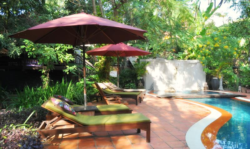 Jungle pool and garden area - River Garden Deluxe Balcony rooms - Siem Reap - rentals