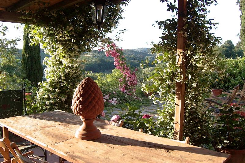 Patio - Le Scalette, Enchanting 3 Bedroom Villa in Tuscany - Scandicci - rentals