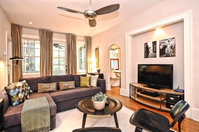 Furnished with a mix of vintage modern and new pieces the decor is comfortable and welcoming - Boutique Furnished Apartment with Original Artwork - Charlotte - rentals