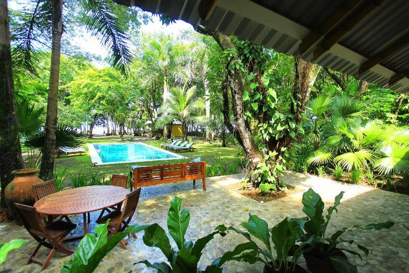 View from dining room living room pavilion. - The Milarepa 3 acres pristine beachfront property - Santa Teresa - rentals