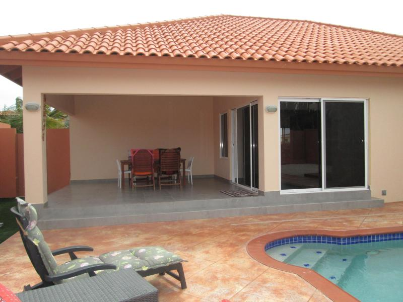 Your back yard - Beautiful BRANDNEW VILLA at Safir: privacy - relax - Aruba - rentals