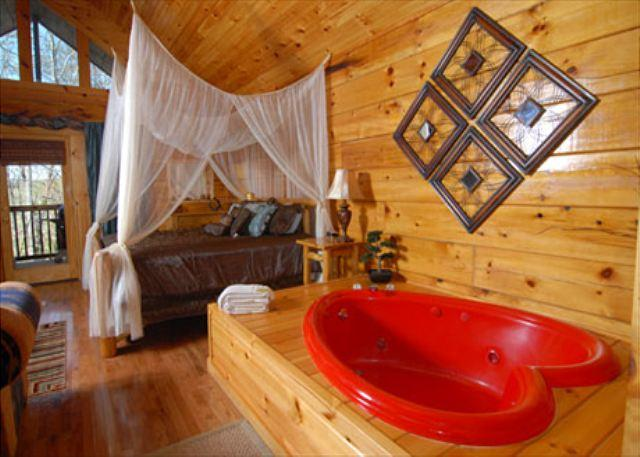 Naughty by Nature a romantic one bedroom cabin with heart shaped Jacuzzi. - Image 1 - Pigeon Forge - rentals