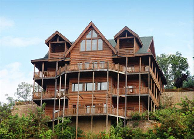 Serenity Mountain Pool Lodge a nine bedroom cabin - Image 1 - Sevierville - rentals