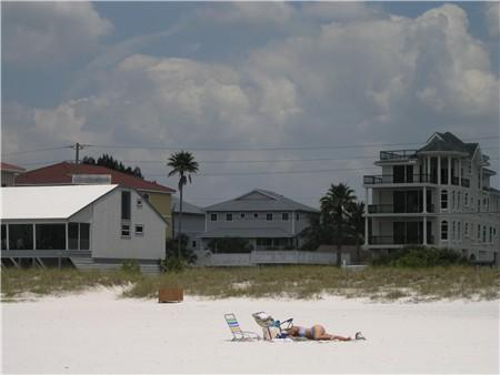 Beachwalk townhouse - view from world famous Siesta Beach on Siesta Key Florida - Beachwalk - Siesta Key Beach - 3br Townhouse -Pool - Siesta Key - rentals