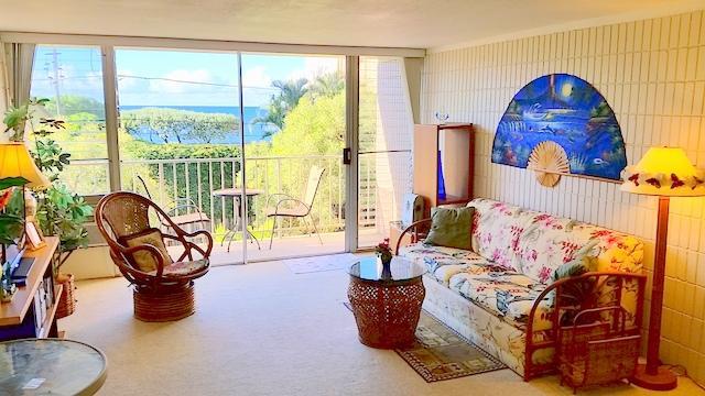 Living room - Ocean View near Haleiwa - 1Br - North Shore Oahu - Waialua - rentals