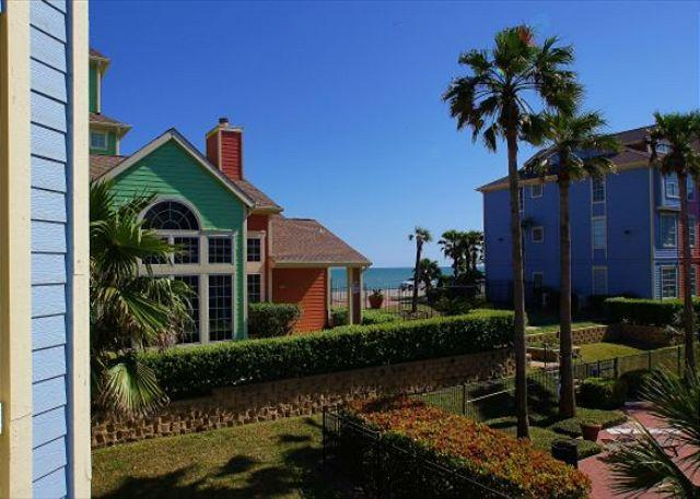 Dawn 325 is a One Bedroom Directly Over the Pool with Slight Gulf View - Image 1 - Galveston - rentals