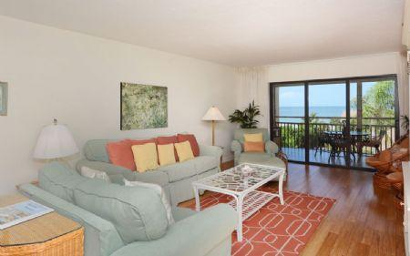 Living Area - Buttonwood 452 - Siesta Key - rentals