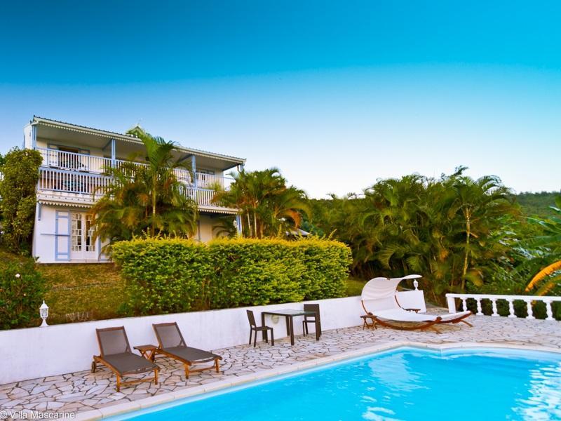Villa Mascarine from the pool side - Villa Mascarine*** Flamboyant Vacation Rental - Saint-Leu - rentals