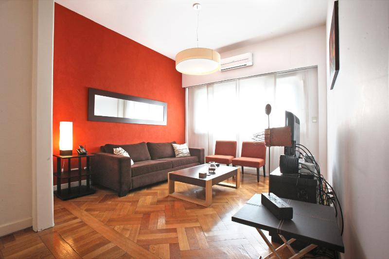 LIVING ROOM - RECOLETA: 3BR, Top modern sun flooded apt - Buenos Aires - rentals