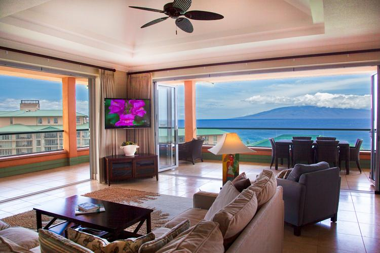 Maui Westside Properties: Konea 1019 - Ocean View 3 bedroom Penthouse with BBQ! - Image 1 - Ka'anapali - rentals