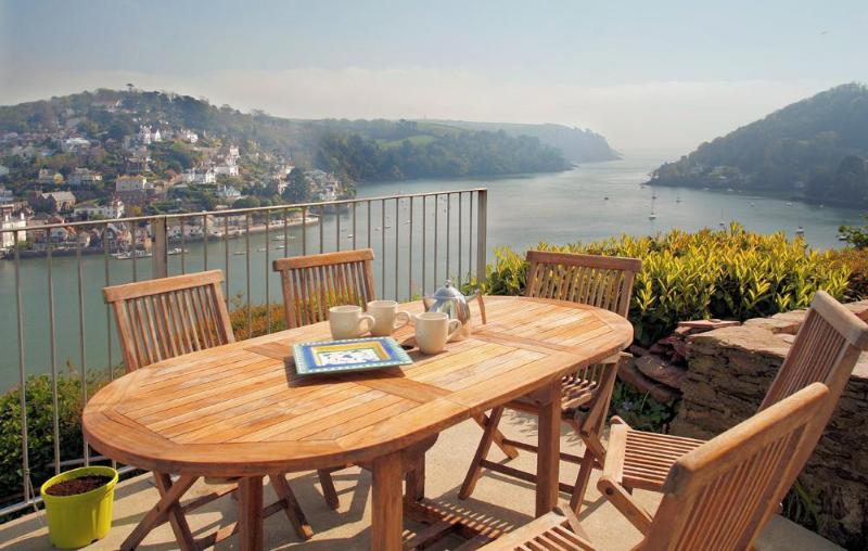Stunning sea views from terrace table - Out To Sea - Dartmouth - rentals