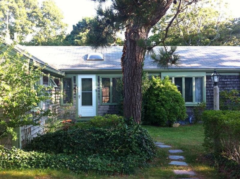 Main entrance to house - Charming and Private Cape Cod Cottage - a 2 minute walk to Saint's Landing Bay Beach - Brewster - rentals