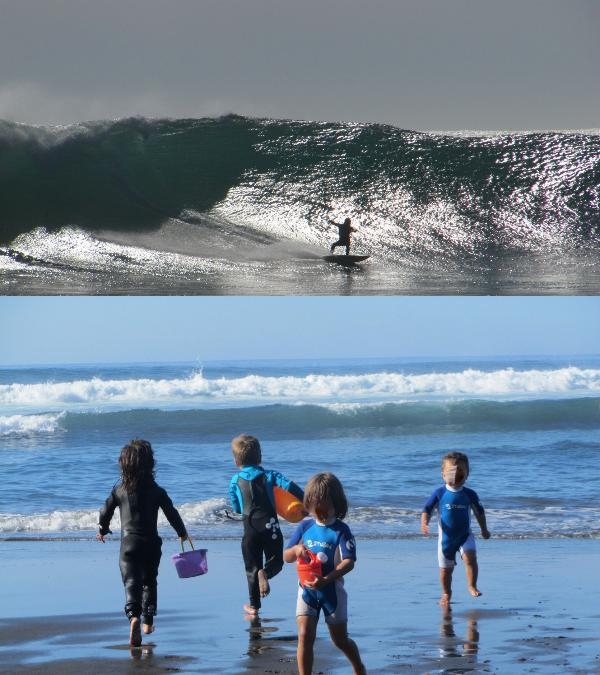 While big kids play among the waves, wanna be surfers play in the beach (same day shots 02/12) - Puertecillo nature lovers & surfers seaside house - Matanzas - rentals