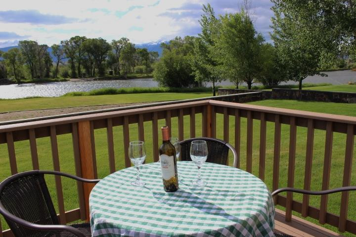Dine on the deck overlooking the Madison River - Madison River Home, On the River, Walk to Town - Ennis - rentals