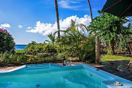 Beachfront Reeds House no5 - Luxury condo with beautiful dining terrace, spa pool & beach - Image 1 - Reeds Bay - rentals