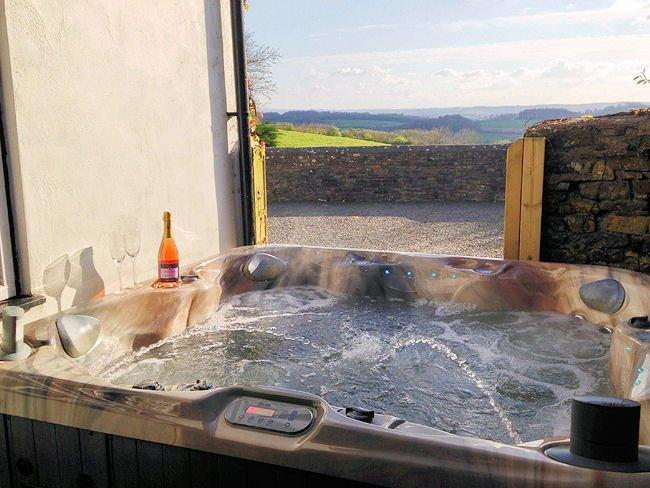 Hot tub with countryside views  - SHARE - Devon - rentals